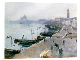 Acrylic glass  Venice in the gray sky - John Singer Sargent