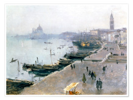 Premium poster Venice in the gray sky
