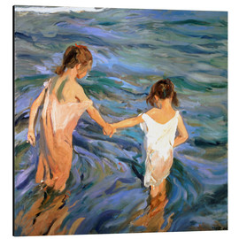 Aluminium print  Children in the Sea - Joaquin Sorolla y Bastida