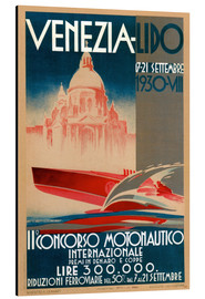 Aluminium print  Venezia Lido 1930 - Travel Collection