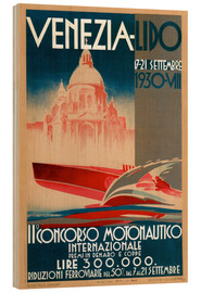 Wood print  Venezia Lido 1930 - Travel Collection