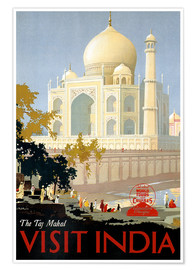 Premium poster  Indien - Taj Mahal - Travel Collection