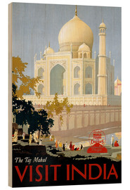 Wood print  Indien - Taj Mahal - Travel Collection