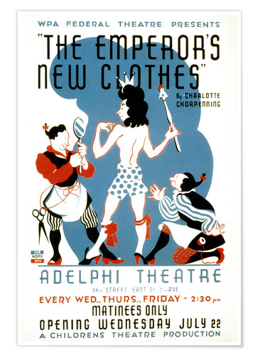 Premium poster The Emperor's New Clothes