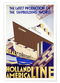 Premium poster  Holland America Line - Travel Collection
