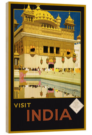 Wood print  India - Delhi House - Travel Collection