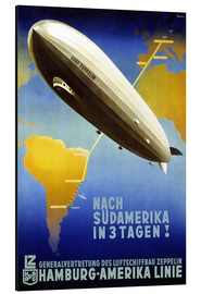 Aluminium print  Hamburg America Line - Graf Zeppelin - Travel Collection