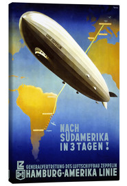 Canvas print  Hamburg America Line - Graf Zeppelin - Travel Collection