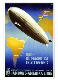 Premium poster  Hamburg America Line - Graf Zeppelin - Travel Collection