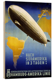 Wood print  Hamburg America Line - Graf Zeppelin - Travel Collection