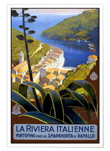 La Riviera Italienne Posters And Prints Posterlounge Co Uk