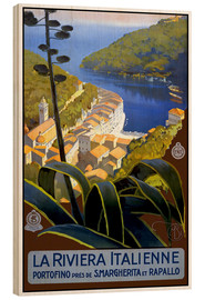 Wood print  La Riviera Italienne - Travel Collection