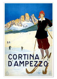 Premium poster  Cortina d'Ampezzo - Travel Collection