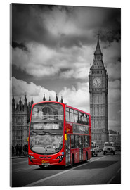 Acrylic print  LONDON Red Bus and Big Ben - Melanie Viola