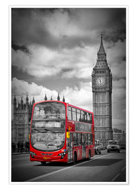 Premium poster  LONDON Red Bus and Big Ben - Melanie Viola