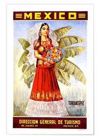 Premium poster  Mexico - Tehuantepec - Travel Collection