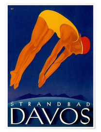 Premium poster  Beach Davos - Travel Collection