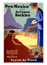 Premium poster Travel to New Mexico, Arizona