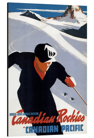 Aluminium print  Skiing in the Canadian Rockies - Travel Collection
