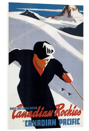 Foam board print  Skiing in the Canadian Rockies - Travel Collection