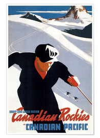 Premium poster  Skiing in the Canadian Rockies - Travel Collection