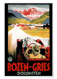 Premium poster  Italy - Bozen-Gries Dolomites - Travel Collection