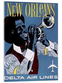 Acrylic print  Fly to New Orleans