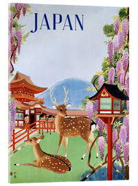 Acrylic print  Vintage Japan tourism - Travel Collection