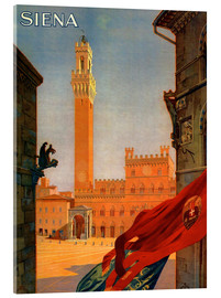 Acrylic print  Siena in Tuscany, Italy - Travel Collection