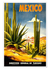 Premium poster  Mexico cactus - Travel Collection