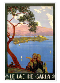 Premium poster  Italy - Le Lac de Garda - Travel Collection
