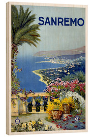 Wood print  Sanremo, Italy - Travel Collection