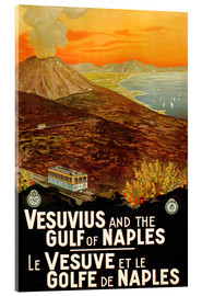Acrylic print  Italy - Vesuvius and the Gulf of Naples - Travel Collection