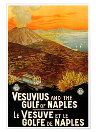 Premium poster Italy - Vesuvius and the Gulf of Naples