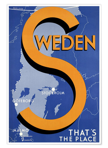 Premium poster Sweden - this is the place
