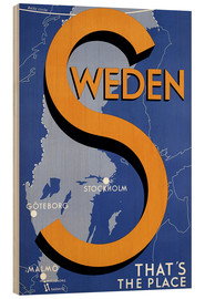 Wood print  Sweden - this is the place - Travel Collection
