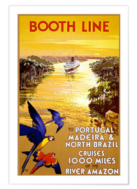 Premium poster Portugal, Madeira and Brazil