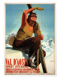 Premium poster  Val d'Aosta - Travel Collection