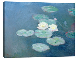 Canvas  Waterlilies, Evening - Claude Monet