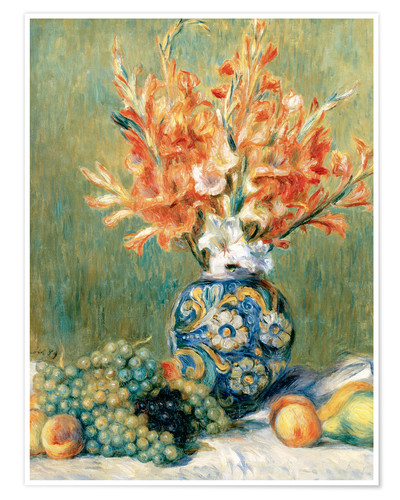Premium poster Still Life with Fruit and Flowers