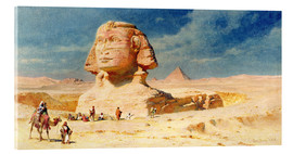 Acrylic print  The Sphinx of Giza, 1874 - Carl Haag