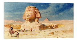 Foam board print  The Sphinx of Giza, 1874 - Carl Haag