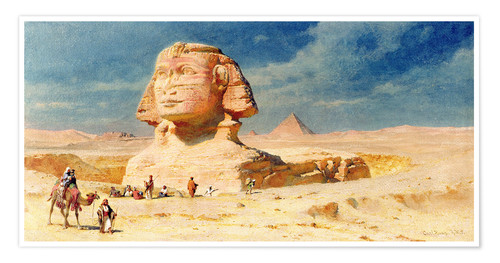 Premium poster The Sphinx of Giza, 1874