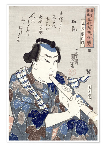 Premium poster Man Playing a Flute