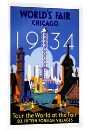 Acrylic print  Chicago - Worlds Fair 1934 - Travel Collection