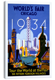 Canvas  Chicago - Worlds Fair 1934
