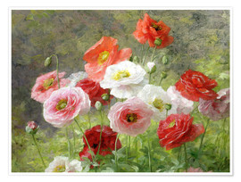 Premium poster  Cluster of Poppies - Louis Marie Lemaire