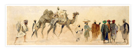 Premium poster Departure to the desert, 1858