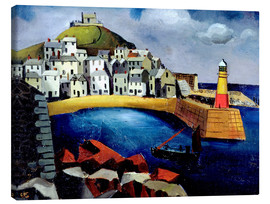 Canvas print  The harbor, 1926 - Christopher Wood