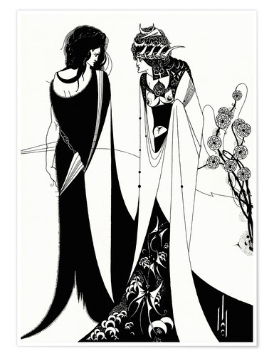 Premium poster Salome with her mother, Herodias